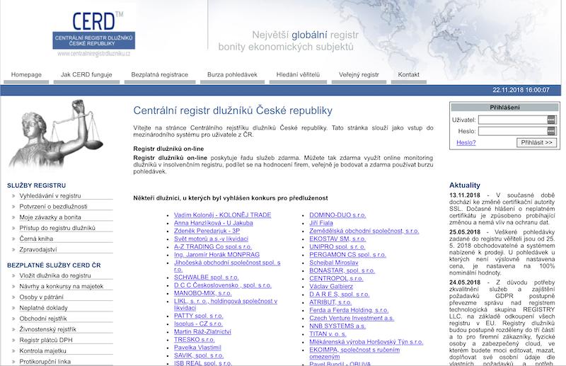 CERD - POZOR podvodný web