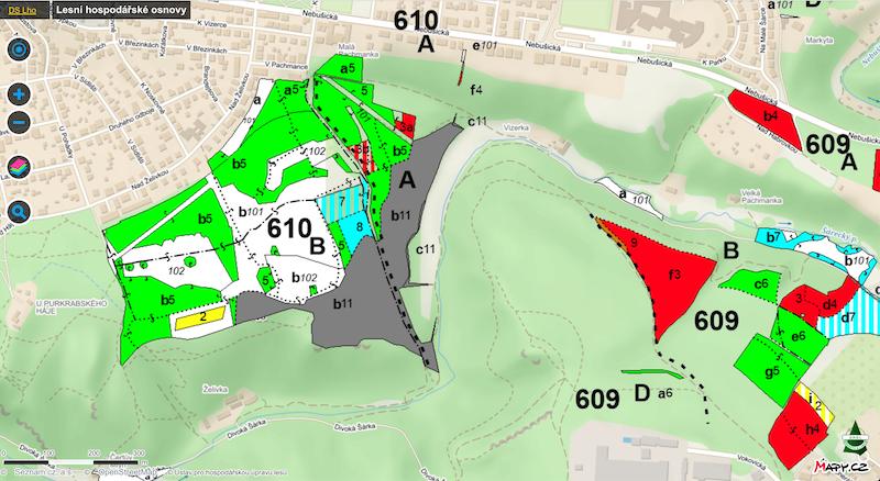 UHUL ukázka mapy
