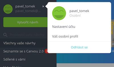 Nastavení češtiny Canva
