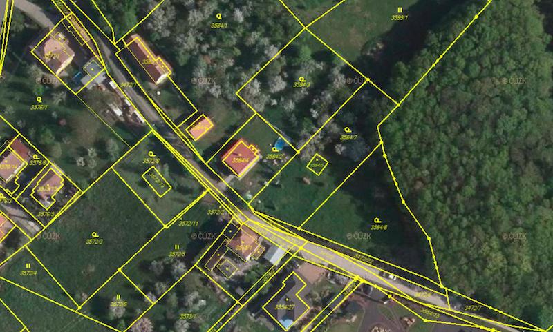 Stav po rozdělení pozemků - ADOL