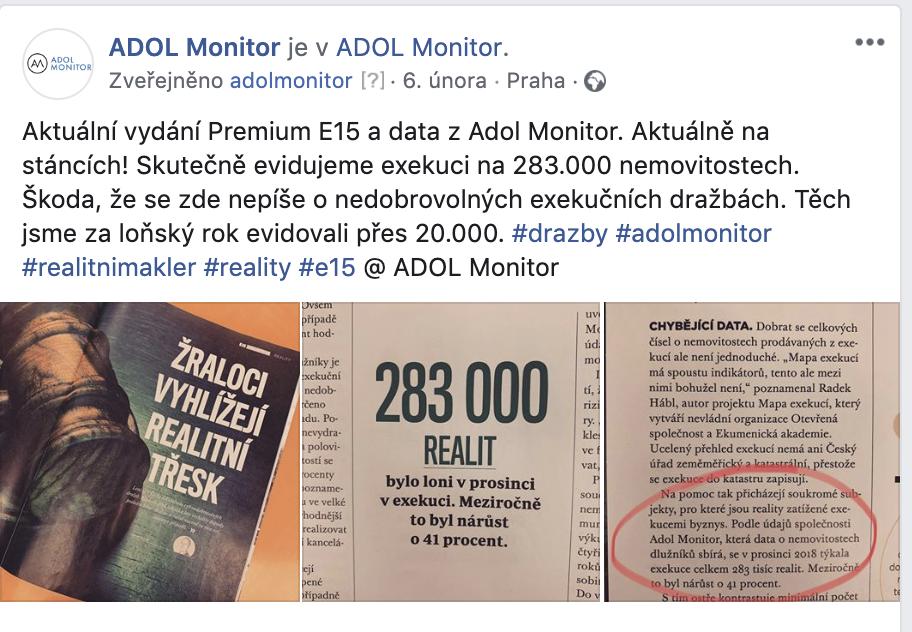 ADOL - Odkaz na článek v E15