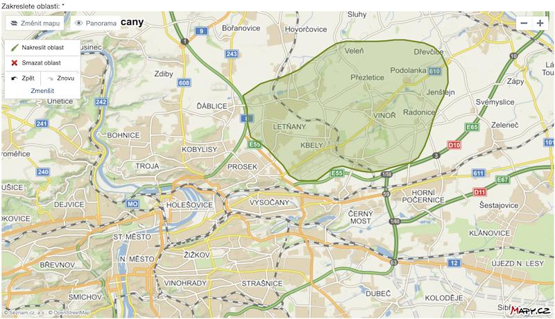ADOL - získání informací o vlastnících  nemovitosti z určité lokality