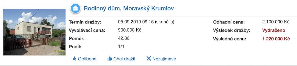 Dražba rodinného domu Moravský Krumlov - ADOL Monitor BLOG