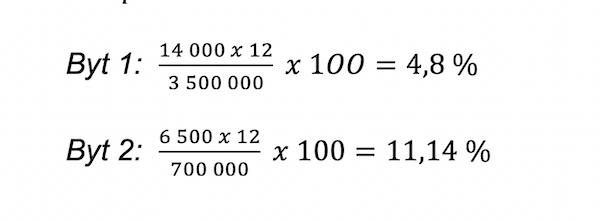 Příklad výpočtu výnosnosti