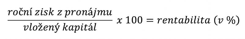 vzorec pro výpočet rentability kapitálu